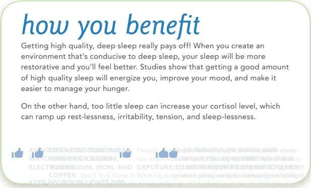 magnesium, iron, and wake cycle can improve their sleep quality People who do not follow a