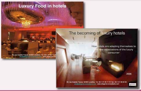- Nu-Luxe, les nouvelles clientèles du luxe, paris NYC - The becoming of luxury hotels -
