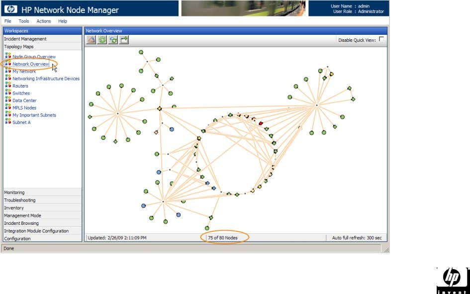 Overview under the Topology Maps workspace. • Note that this is usually an abbreviation of the