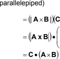 parallelepiped) = ( | A × B | )( C  ( )  =