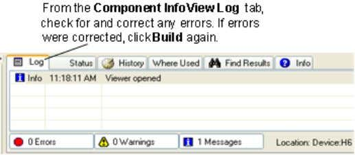 VIe component 1. From the toolbar, click the Build button. 2. From the toolbar, click the