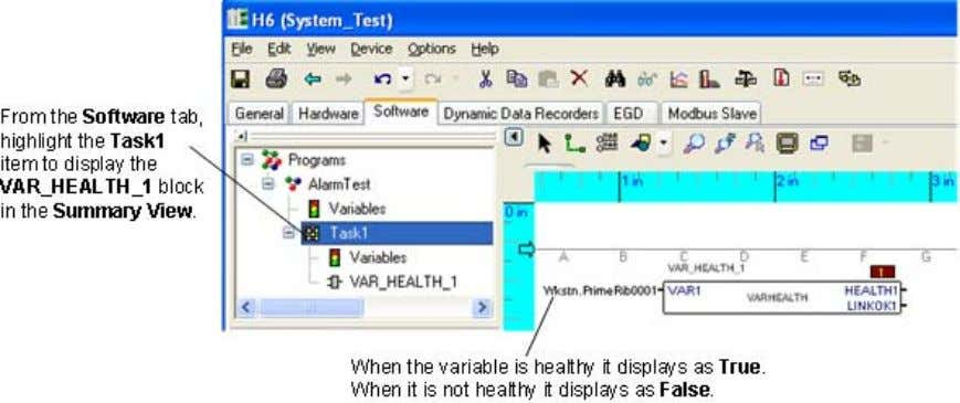 To monitor values in the Mark VIe component Verify that both the primary and secondary OPC