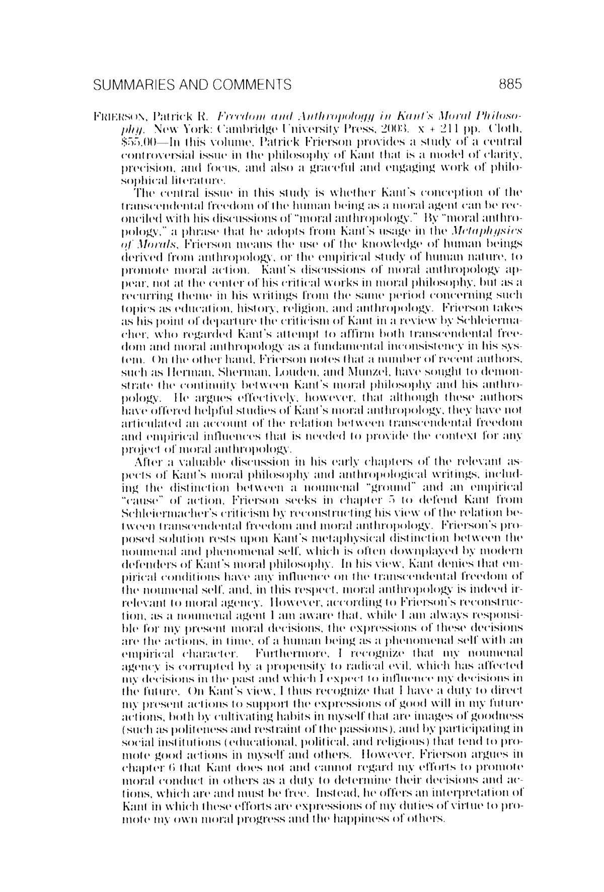 Metaphysics; Jun 2006; 59, 4; Platinum Periodicals pg. 885 Reproduced with permission of the copyright owner.