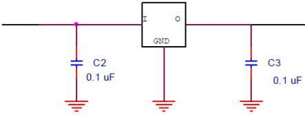 between the input and output to smoothen and maintain the voltage. Figure 8- Voltage Regulator Circuit