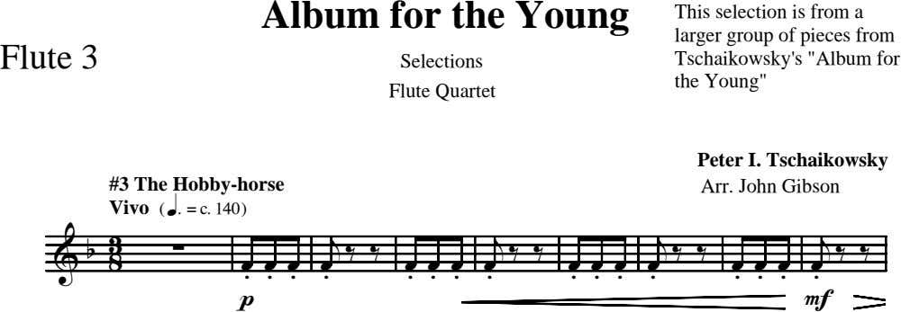 Album for the Young Flute 3 Selections This selection is from a larger group of