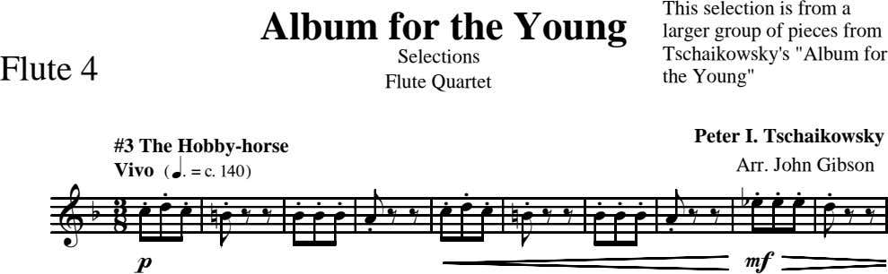 Album for the Young Selections Flute 4 This selection is from a larger group of