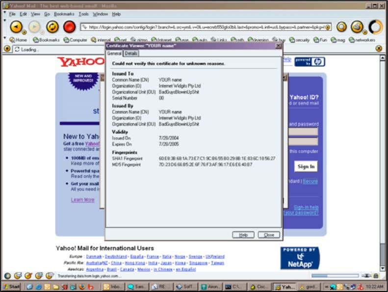 traffic for all SSL/SSH sites can flow through the attacker © 2005 Cisco Systems, Inc. All
