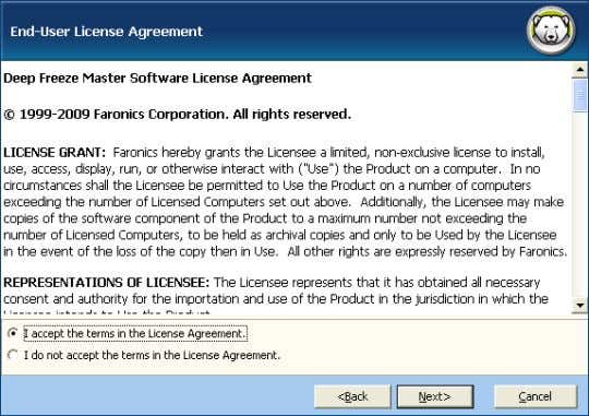 agree to the terms in the License Agreement . Click Next . 3. Enter the License