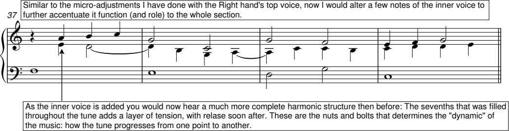 Similar to the micro-adjustments I have done with the Right hand's top voice, now I
