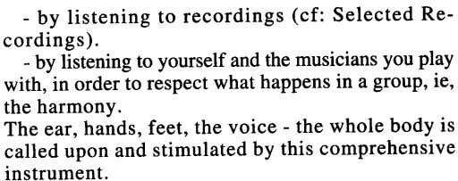 - by listening to recordings (cf: Selected Re- cordings). - by listening to yourself and