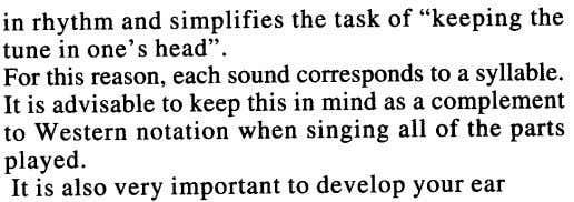 "in rhythm and simplifies the task of ""keeping the tune in one's head"". For this"