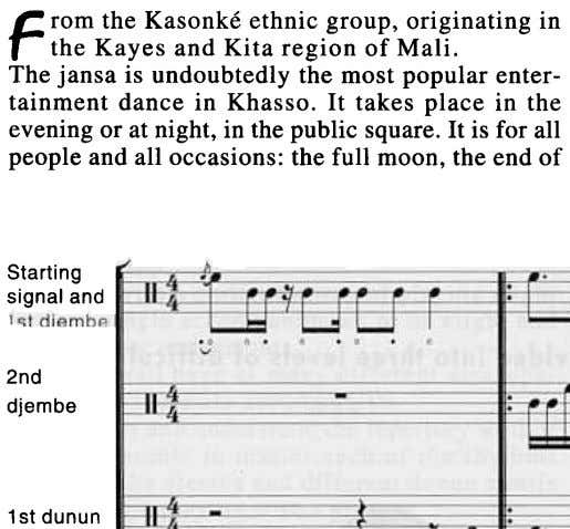 F rom the Kasonke ethnic group, originating in the Kayes and Kita region of Mali.