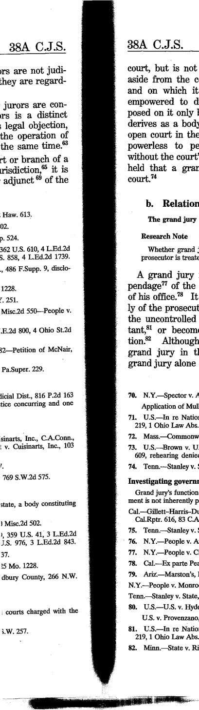 38A C.J.S. 38A C.J.S. Ors are not judi- they are regard- jurors are con- rs
