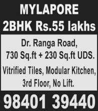 3BHK 19Yrs with lift & OCP Rs.1.65CR, Ph: 97101 56179. Home Needs / Services ▲ COMPUTER