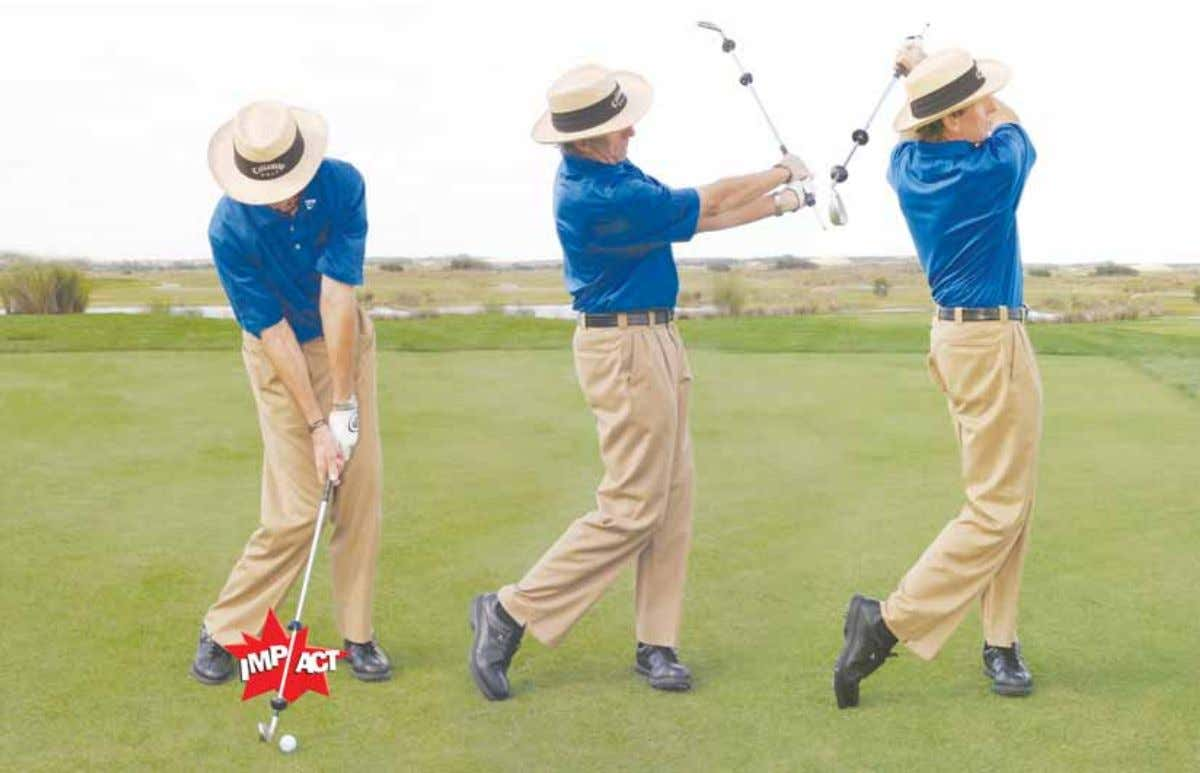 WITH LEADBETTER Unwind and release your max speed at impact One of the reasons good players