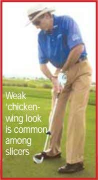 Weak 'chicken- wing look is common among slicers