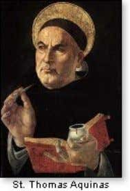 3) The medieval scholastics — most notably St. Thomas Aquinas (1225 -1274) — were masters of