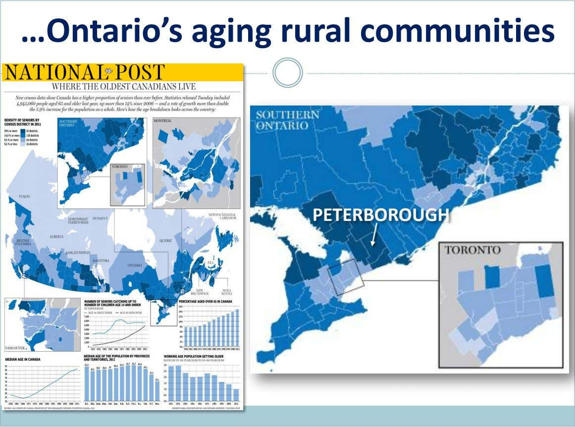 …Ontario's aging rural communities PETERBOROUGH