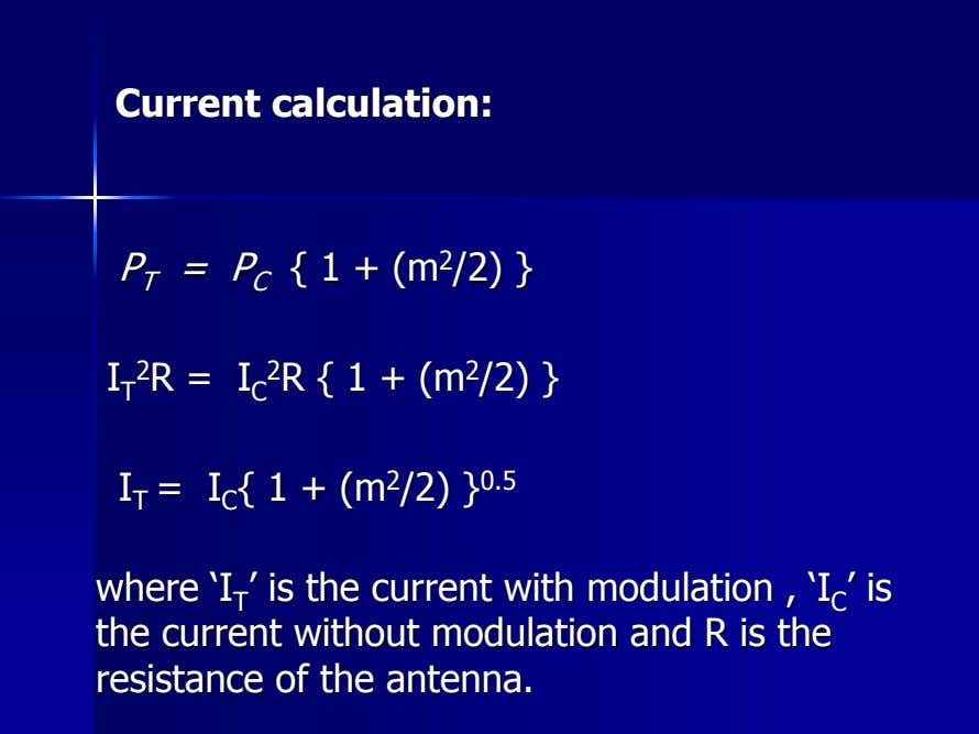 CurrentCurrent calculation:calculation: == PP CC {{ 11 ++ (m(m 22 /2)/2) }} PP TT II