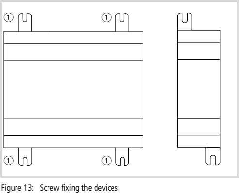 a a a a Figure 13: Screw fixing the devices
