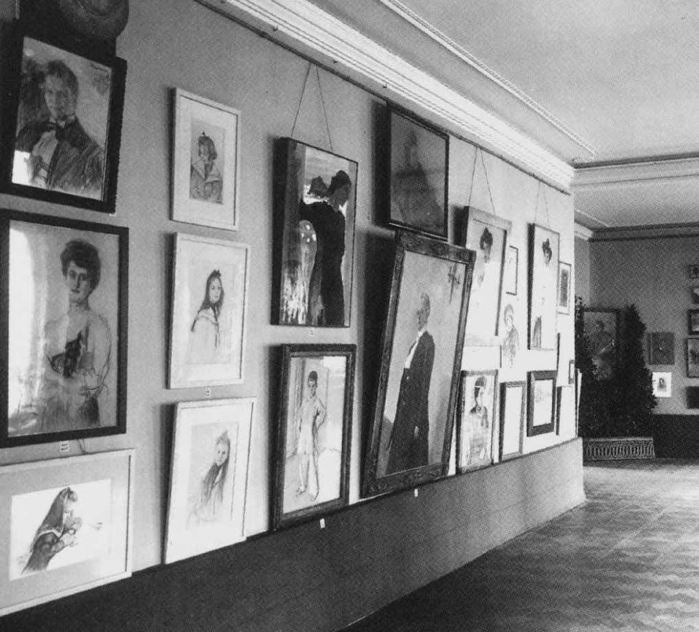 The present work on view at Serov's posthumous exhibition, Moscow, 1914