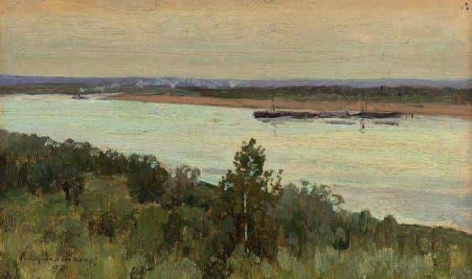 17 PROPERTY FROM A DISTINGUISHED COLLECTION, EUROPE 17 VASILII PEREPLETCHIKOV (1863-1918) On the river signed