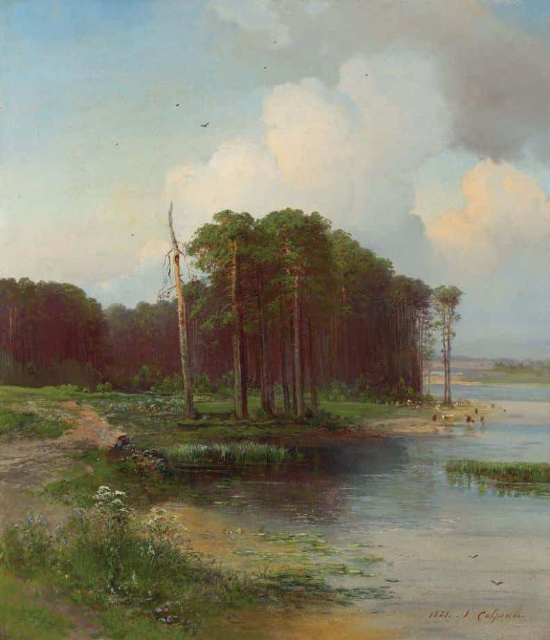 PROPERTY FROM AN AMERICAN COLLECTION *19 ALEKSEI SAVRASOV (1830-1897) Losiny ostrov signed in Cyrillic and