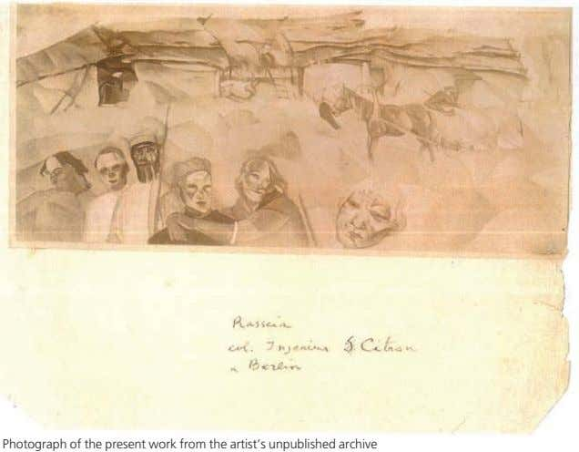 Photograph of the present work from the artist's unpublished archive