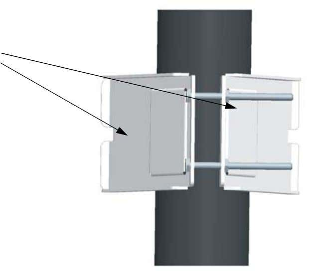 to the pole. (The bracket may need to be rotated around the pole during the antenna