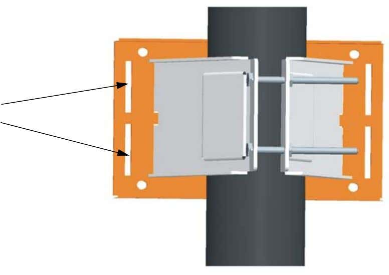 slots in the rectangular plate, and tighten the nuts. Slots 3 Attach the adjustable rectangular plate
