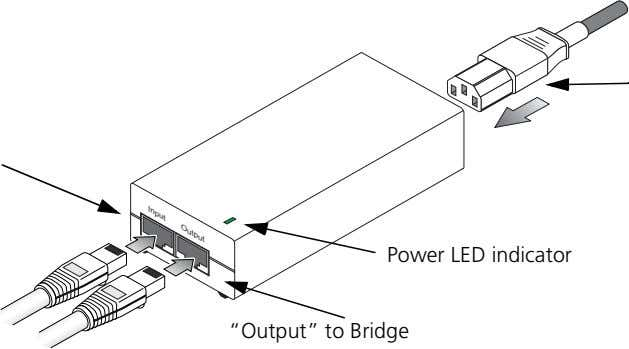 "Input Output Power LED indicator ""Output"" to Bridge"