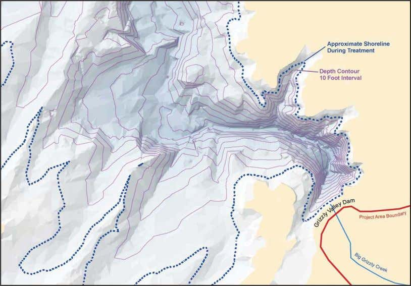 Treatment Status Maps A visualization of Lake Davis bathymetry. During the chemical treatments, stream and