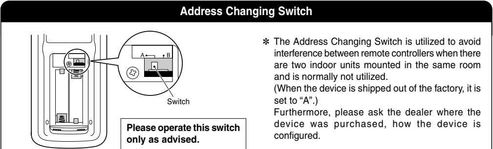 Address Changing Switch