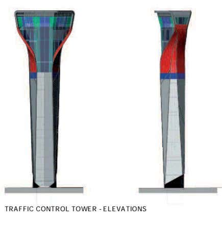 TRAFFIC CONTROL TOWER - ELEVATIONS