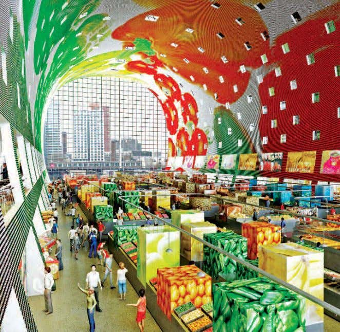 Market Hall, Rotterdam; Architects: MVRDV, Rotterdam be replaced by newer variety? If everything around us is