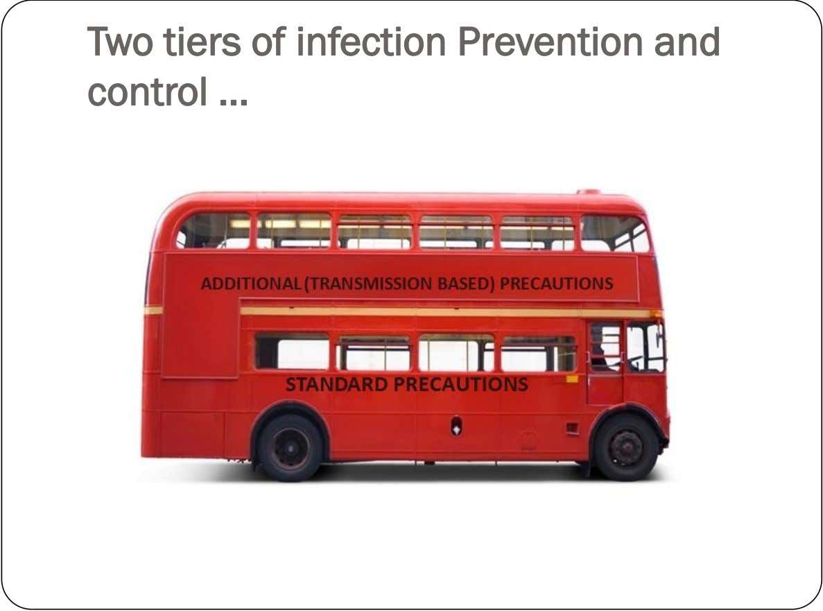 Two tiers of infection Prevention and control …