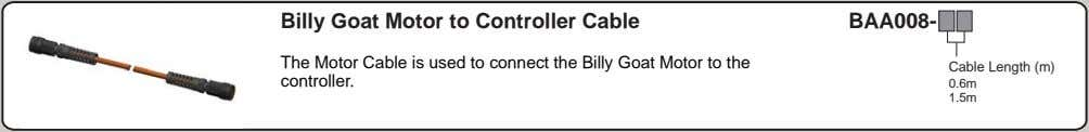 Billy Goat Motor to Controller Cable BAA008- The Motor Cable is used to connect the