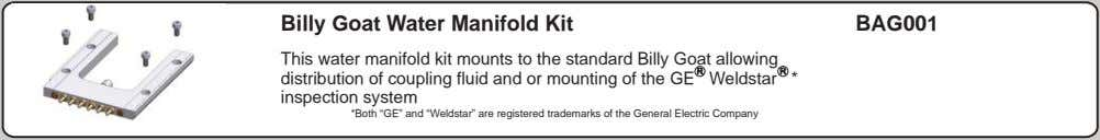 Billy Goat Water Manifold Kit BAG001 This water manifold kit mounts to the standard Billy