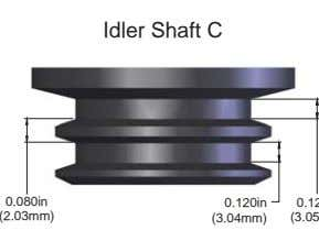 Idler Shaft C 0.080in 0.120in (2.03mm) (3.04mm)