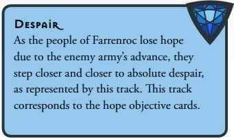 Despair As the people of Farrenroc lose hope due to the enemy army's advance, they