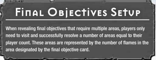 Final Objectives Setup When revealing final objectives that require multiple areas, players only need to
