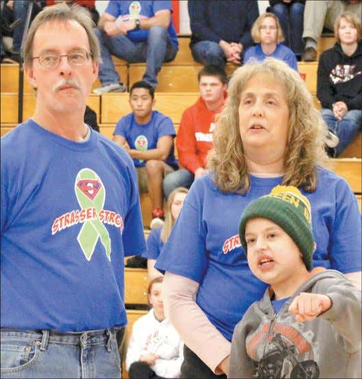 Ryan Gassner helped the Red Raiders beat the Wildcats. STRASSER STRONG- Marathon 12-year-old Connor Strasser pumps