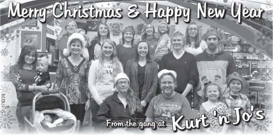 MMerryerry CChristmashristmas && HHappyappy NNewew YYearear From the gang at KKurturt ''nn JJo'so's