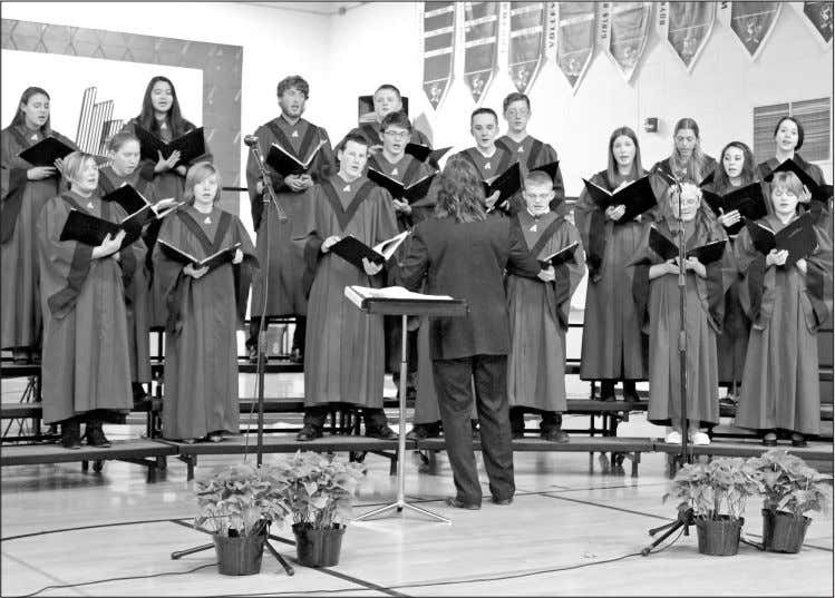 EVIEW December 23, 2015 Page 15 Athens Christmas concert HIGH SCHOOL CHOIR -Members of the Athens