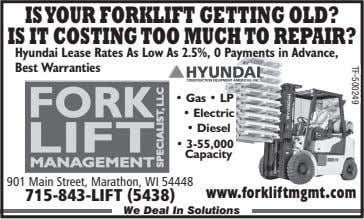 ISYOUR FORKLIFT GETTING OLD? IS IT COSTING TOO MUCH TO REPAIR? Hyundai Lease Rates As