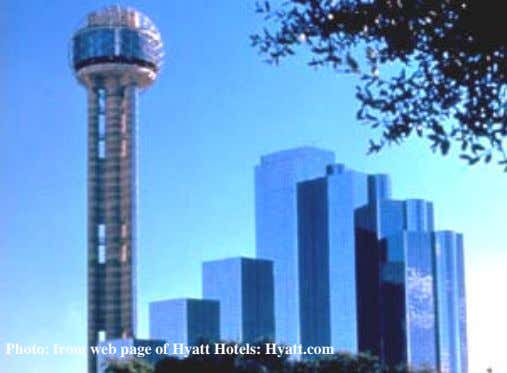Photo: from web page of Hyatt Hotels: Hyatt.com
