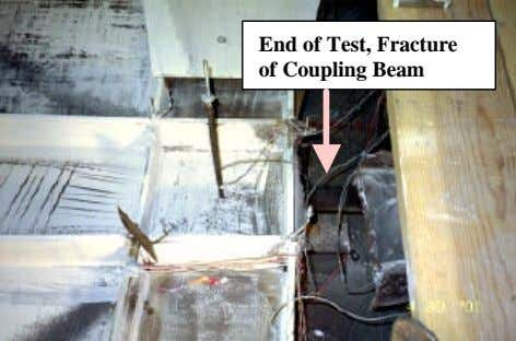 End of Test, Fracture of Coupling Beam