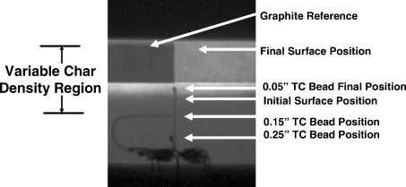 Fig. 10 Sectioned view of material sample posttest. Fig. 11 Example of real-time radiography. Fig. 12