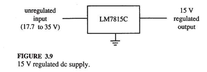can deliver up to 1A current, and are internally protected from overload. The supply voltage should