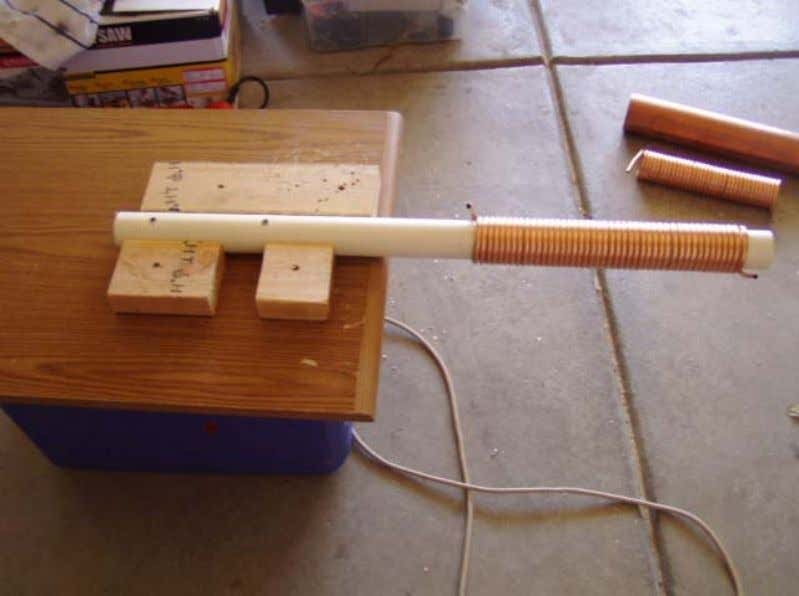 16 Note: the PVC pipe is nailed to the bench so it stays firm while you
